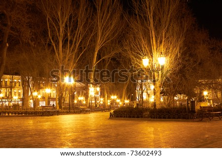 City park at night
