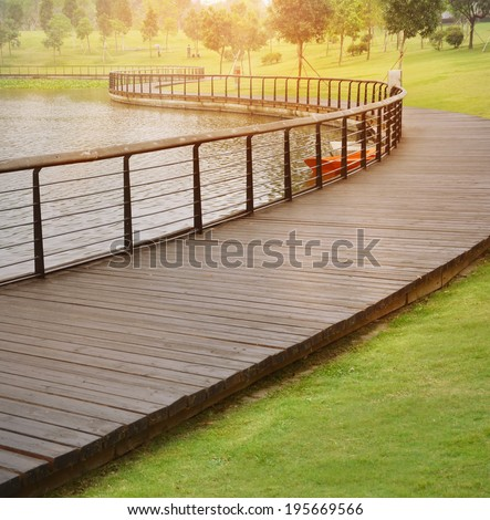 city park boardwalk