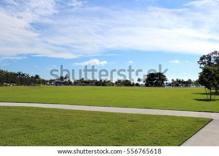City park in Miami, Florida, USA