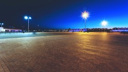 city paved area at night