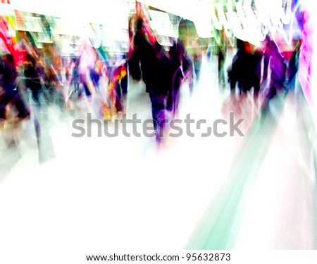 city people crowd background blur action