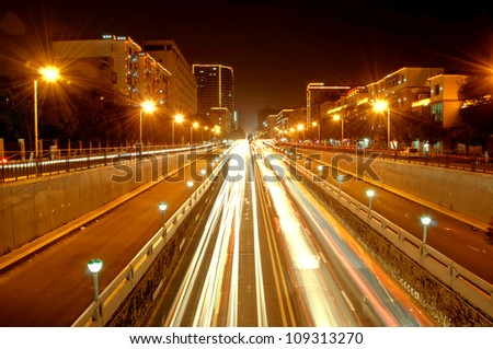 City Road the light trails