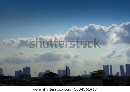 City scape and Cloud scape background,nature background, copy space #1384361417