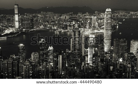 City Scape Buildings Urban Scene Concept #444490480