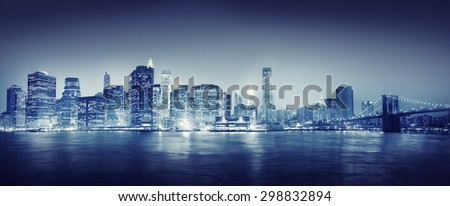 city scape new york buildings...