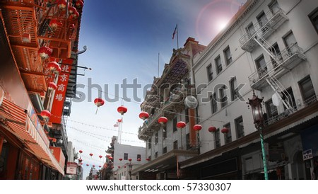 City scape of San Francisco China Town