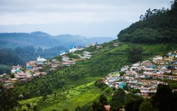 City scape on Nilgiri mountains at Udhagamandalam / Udhagai / Ooty, Nilgiris, Tamil Nadu, India