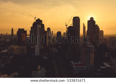 City Scape Sunset of Bangkok City #533831671