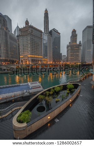 city scapes from chicago #1286002657