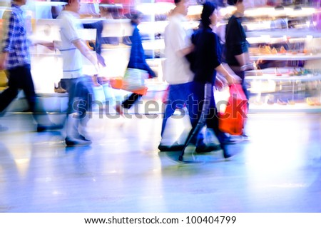 city shopping people crowd at marketplace abstract background #100404799