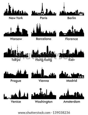 city silhouette vector 15