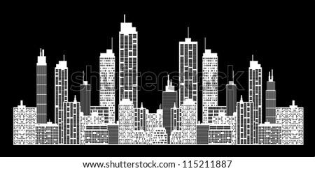 City skyline - stock photo