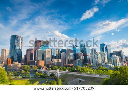 City skyline of Calgary, Alberta, Canada
