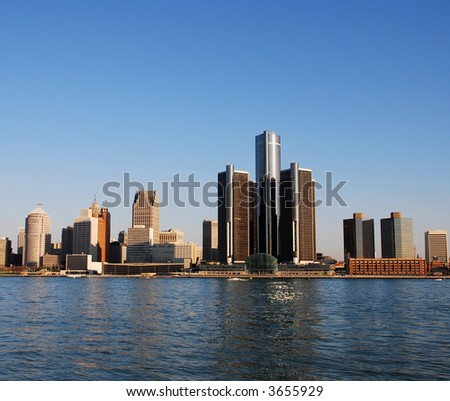 City skyline of Detroit