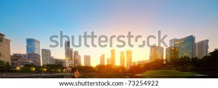 City skyline of the Kuala Lumpur at sunrise. Malaysia #73254922