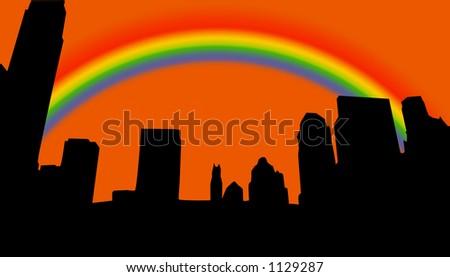 new york city skyline outline. new york skyline silhouette.
