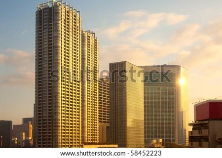 City skyline, Tokyo, Kanto Region, Honshu, Japan
