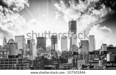 City Skyline with modern Buildings and Skyscrapers