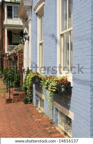 City street in Old Town Alexandria, Virginia