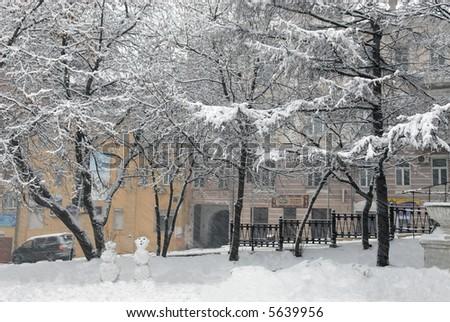 City(town) Vladivostok, snow, winter,       Russia ,  Primorye  region #5639956
