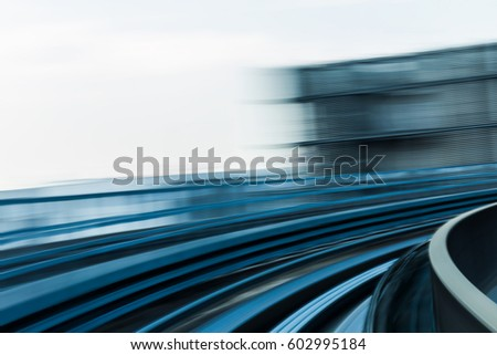 City train moving blurred motion, abstract background #602995184