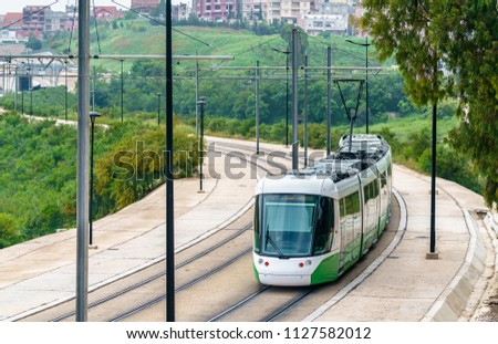 City tram in Constantine - Algeria, North Africa