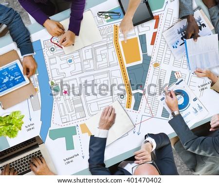 City Urban Blueprint Plan Infrastacture Concept