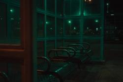 city urban night lights grimey gritty dank