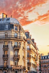 City, urban  view on building in  Paris.France