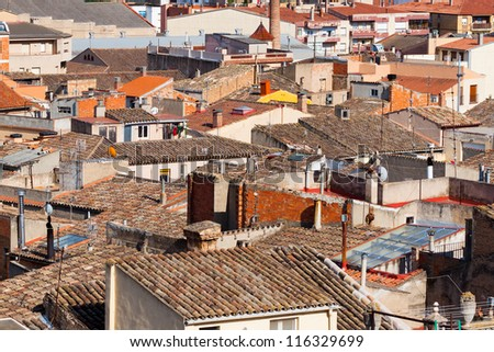 City view of buildings in Catalonia, Spain