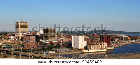 City view of dowtown area of Saint John, New Brunswick, Canada