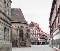 city view of Hamelin, a town in Lower Saxony