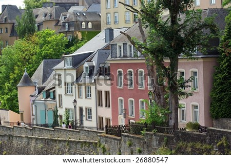 City view of old town Luxembourg