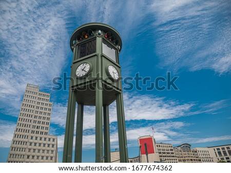 CIty view of Potsdamer Platz in Berlin during summer Stock foto ©