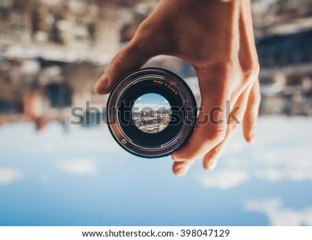 city view through the lens
