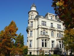 City villa with turret in Ixelles, Brussels, Belgium