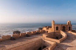 City wall with cannons in Essaouira, Morocco