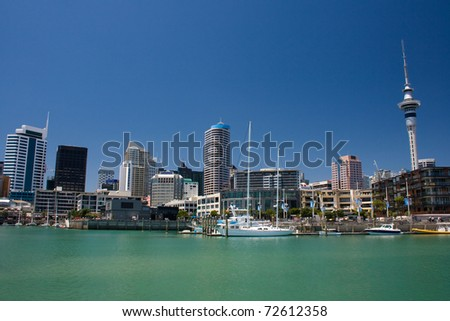 City waterfront. Auckland, New Zealand