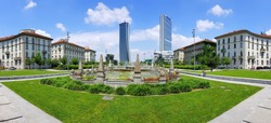 CityLife  residential, commercial and business district. Milan, Italy. Piazzale Giulio Cesare, Milano.