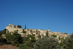 Cityline of Ansouis village in provence