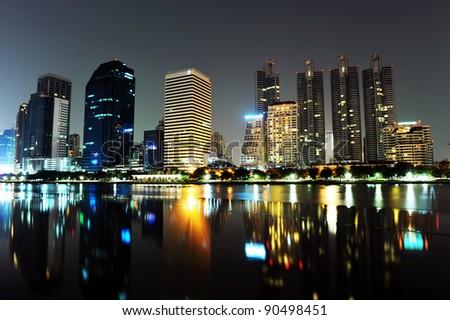 Cityscape at Night, Bangkok, Thailand