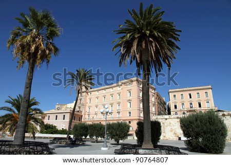 Cityscape, Bastion Saint Remy,Cagliari, Sardegna island, Italy
