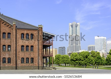 Cityscape in Yokohama, Japan