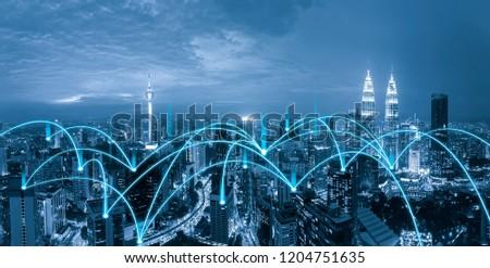cityscape network connection
