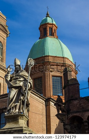 Cityscape of Bologna Italy - stock photo