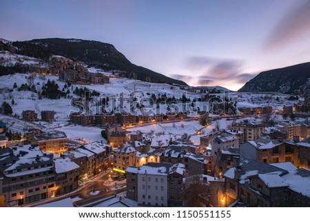 Cityscape of Canillo in Winter. Canillo, Andorra