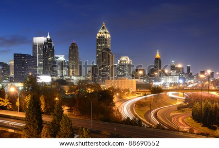 cityscape of downtown atlanta, georgia, usa