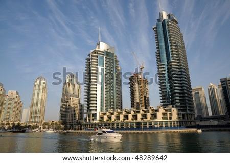 Cityscape of Dubai Marina, United Arab Emirates