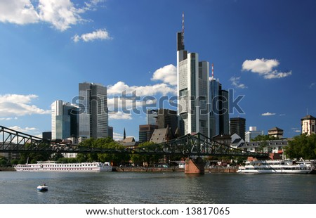 Cityscape of Frankfurt the business center of Germany