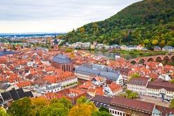Cityscape of Heidelberg city, Germany.